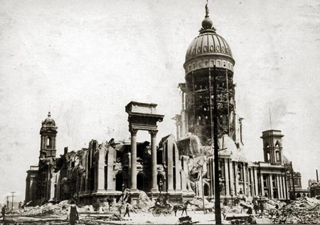 Photo showing earthquake damage/aftermath